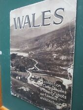 WALES Collection of Camera Studies of beauty spots and famous architecture 1920s