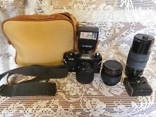 VINTAGE Ricoh Camera KR-5 & ACCESSORIES and BAG ~FREE SHIPPING~