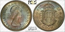 1967 GREAT BRITAIN HALF CROWN PCGS MS65 BEAUTIFUL RAINBOW TONED ONLY 1 HIGHER!