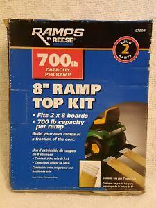 """NEW IN BOX Ramps by Reese 8"""" Ramp Top Kit 700lb Capacity Per Ramp #07009"""