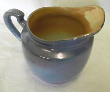 Japan Blue Peach Iridescent Creamer Pitcher Vintage Collectible Hand Painted