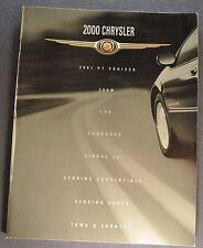 2000 Chrysler Brochure PT Cruiser 300M LHS Concorde Cirrus Sebring Town Country