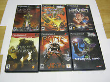 Playstation 2 PS2 game lot (6), Shadow of the Colossus, Eternal Ring, TESTED