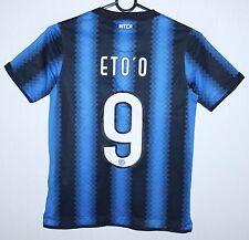 Internazionale Inter Milan Italy home shirt 10/11 Nike KIDS Size S #9 Eto'o