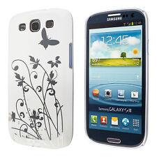 Samsung Galaxy S3 i9300 custodia protettiva farfalla bianco case cover