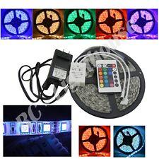 3528 LED Light Strip, 24 Key Remote Control with AC Plug RGB 5 meters