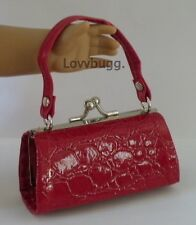 """Red Croc Kiss-Lock Purse for 18"""" American Girl Doll Widest Selection Found!"""