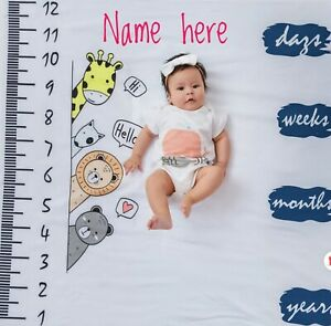 Personalised newborn Milestone Photography prop Background,Monthly Growth cloth