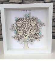 Personalised Family Tree Frame Gift For Birthdays Fathers Day Grandparents 💜