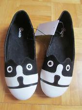 Adorables BALLERINES motif CHAT noir et blanc Taille 34 ONLEAD