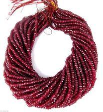 "5 Strands Ruby Quartz Rondelle Faceted Gemstone Beads 4mm 13""Inch"