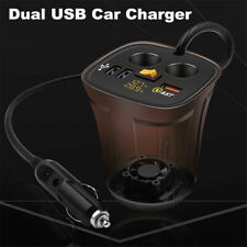 Cup Shape Cigarette Lighter Fast Car Charger Dual USB For Mobile Phone Tablet