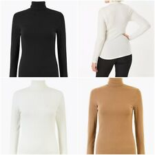Fa M ou S Women's M S Heatgen™ Ribbed Polo Neck Thermal Long Sleeve Tops RRP £16