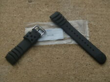 SEIKO 20mm BLACK RUBBER DIVERS WATCH STRAP Z20 4KR3JZR WILL FIT MONSTER 20mm