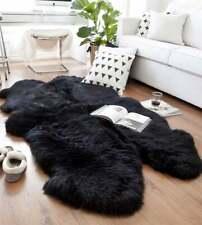 Quad Sheepskin Rug Natural Large Sheepskin Rug Black 4 X 6 Australian Sheep Skin