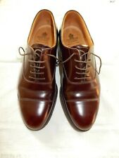 Mens Crockett & Jones burgundy all leather shoes, UK size 9, excellent condition