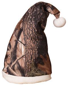 "19"" Holiday Hunter Tree Camouflage Camo Santa Stocking Cap Hat Costume Accessory"