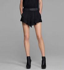 NWT HELMUT LANG 10 draped black dressy shorts lined $345 designer runway silky