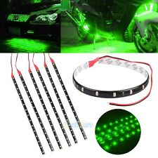 6x High Power Car Motor Flexible LED Light Strip Waterproof 15SMD 30CM 12V Green
