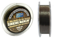 Asso Carp Specialist Mainline Sinking Fishing Line 1000 m Brown Spools New
