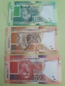 Südafrika 10,20,50 rand