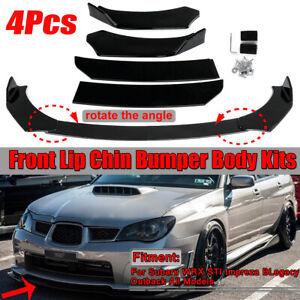 Glossy Black Car Front Bumper Lip For Subaru WRX STI Impreza BRZ Legacy Outback