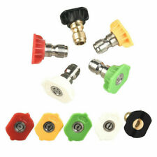 More details for wash quick release nozzle spray pressure washer jet (5 angle and jet size) 5pcs