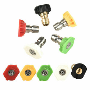 Wash Quick Release Nozzle Spray Pressure Washer Jet (5 Angle and Jet Size) 5pcs