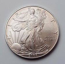 U.S.A - DATATA 2007-argento-Aquila - $1 UN DOLLARO MONETA-American Silver Moneta