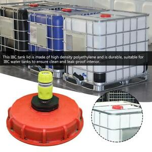 Water Liquid Storage IBC Tank Fitting Vented Cover Lid Adaptor +Inject Connector