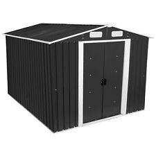 ZELSIUS Gerätehaus Geräteschuppen 8m² XL Metall Gartenhaus Anthrazit GEHA4S