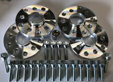 4 x 25mm SILVER ALLOY WHEEL SPACERS + M14X1.5 SILVER LOCKS + BOLTS VOLKSWAGEN 57