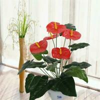 e Künstliche Falsche Anthurium Strauß Blume Hochzeitsfeier Florale De_Sale N5J9