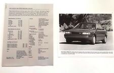1991 Mazda Protege Car Product Media Guide Brochure and print
