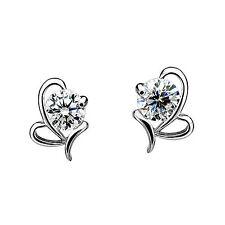 1 pair Very Elegant Ladies Silver Rhinestone Ear Stud Earring