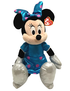 """New Disney TY Sparkle Minnie Mouse Plush Large 14"""" Stuffed Doll Toy NWT"""