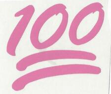 100 Emoji hundred points underline​d Decal Car Laptop Sticker Window Vinyl red +