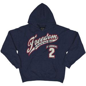 7.62 Design 2Nd Amendment Freedom Hoodie Sweatshirt Outdoor Mens Pullover Navy