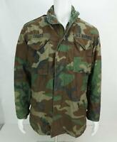 US Marines Military Army Men's Cold Weather Jacket Woodland Camo Size L-30