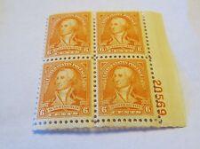 SCOTT #711 1932 6 CENT WASHINGTON BICENTENNIAL PLATE BLOCK  MINT NH