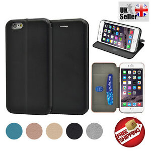 Premium Deluxe Full Curved Leather Ultra Slim Magnetic wallet case iPhone 6 / 6S