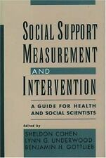 Social Support Measurement and Intervention: A Guide for Health and Social Sc...