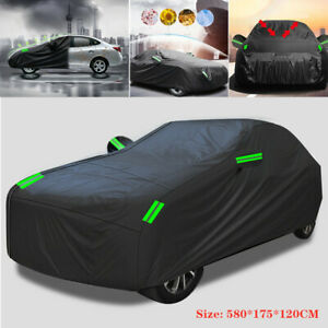 Universal Size Full Car Cover Waterproof Rain/UV/Dust Resistant Weather Proof