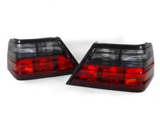 DEPO Pair Euro Red / Smoke Tail Lights For 1986-1995 Mercedes Benz E Class W124