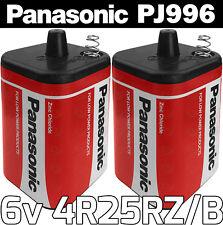 2x Panasonic 4R25RZB 6v PJ996 Torch Lantern Battery 6 Volt 908 996 430 Batteries