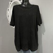 Large - FREE PEOPLE Vintage Black Wash Clarity Tee T-Shirt