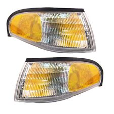 Pair Corner Lights - Driver & Passenger Side - Fits 1994-1998 Ford Mustang