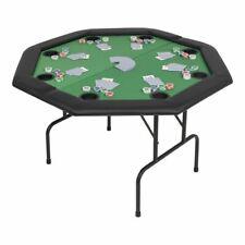 vidaXL Pokertafel voor 8 Personen 2-voudig Inklapbaar Groen Pokeren Poker Spel