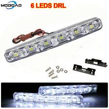 Universal 12V 6 LED Car Daytime Running Light DRL Fog Lamp Day Lights Daylight