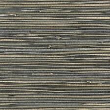 Real Natural Triangle Grasscloth Wallpaper Mpc010 charcoal gray 72 sq ft